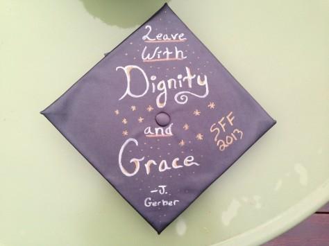 Jordan Teboldi's graduation cap