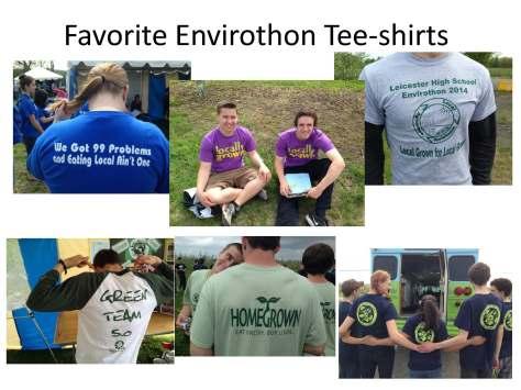 Favorite Envirothon Tee-shirts