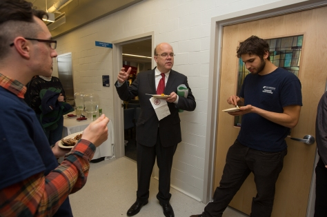 Congressman James McGovern visits with Stockbridge School of Agriculture students